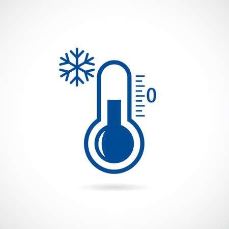 Icono de vector termómetro frío