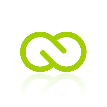 Green infinity loop logo