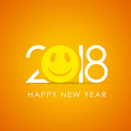 Happy new year 2018 smile poster