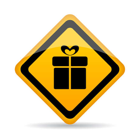 Gift wrapping service vector icon Illustration