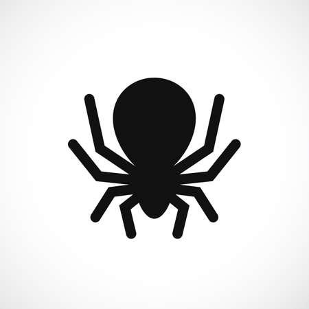 Big scary spider vector icon