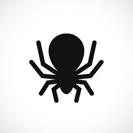 Big scary spider vector icon