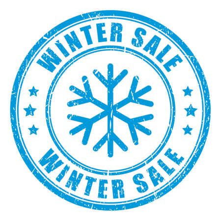 Winter sale rubber stamp