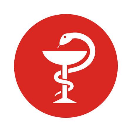 Snake and bowl old medicine symbol