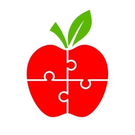 Diagrama de apple rompecabezas para infografía Foto de archivo - 88450073