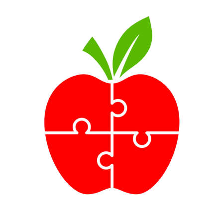 Puzzle apple diagram for infographics Illustration