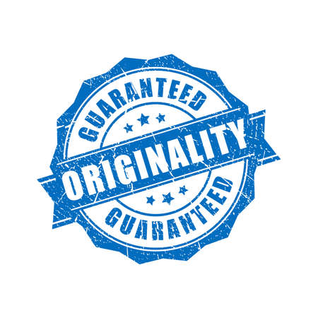 Originality guaranteed vector stamp Vetores