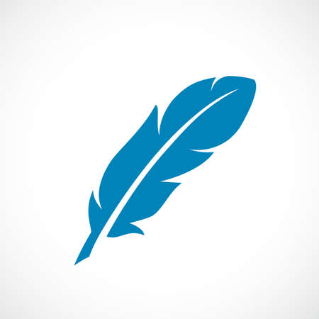 bandada pajaros: Icono de vector de plumas