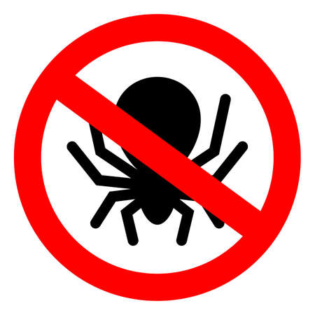 No bugs vector sign Illustration