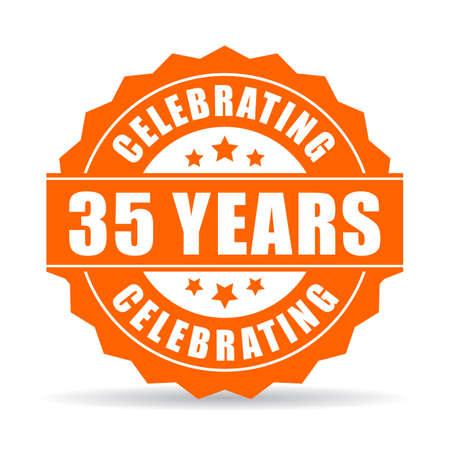 35 years celebrating vector icon