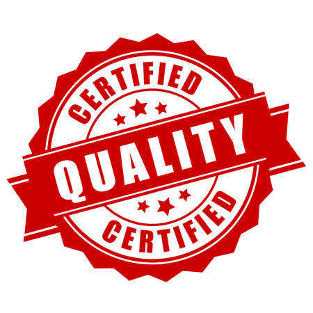 Certified quality business label Illustration