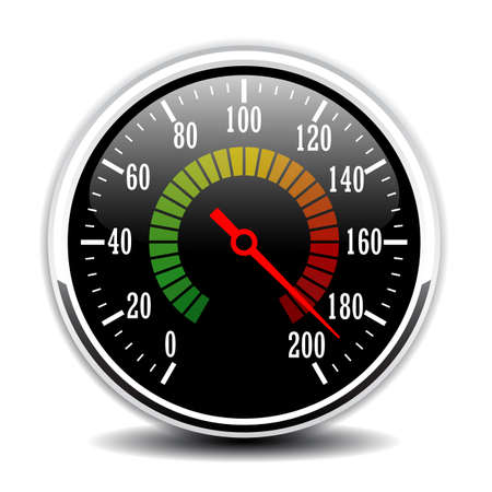 Car speedometer design vector illustration