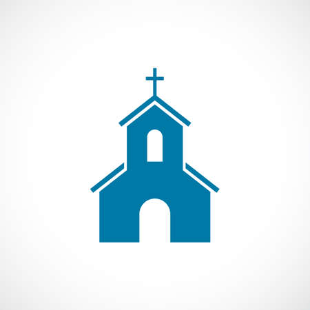 church steeple: Church building vecto icon