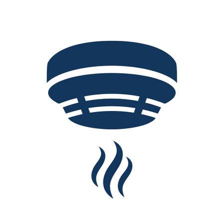 Icono de vector de alarma de humo