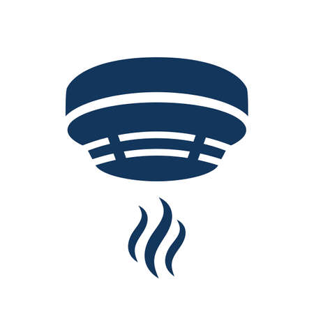 Smoke alarm vector icon