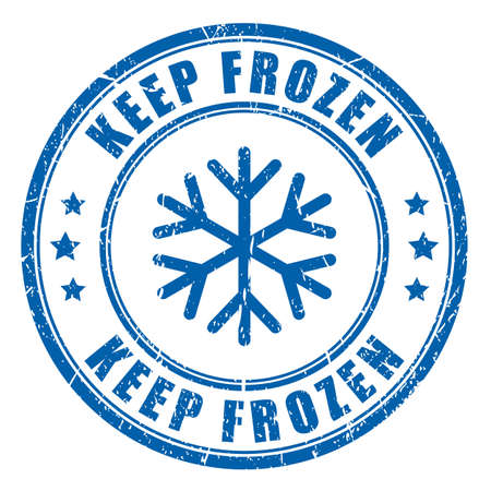 Keep frozen ink blue stamp