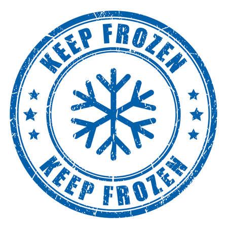 Keep frozen ink blue stamp