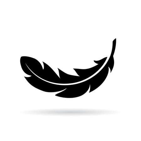 Feather vector icon Illustration