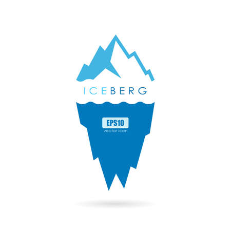 Ice berg vector logo Illustration