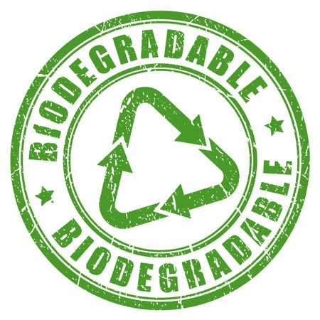 Biodegradowalny zielony stempel Ilustracje wektorowe
