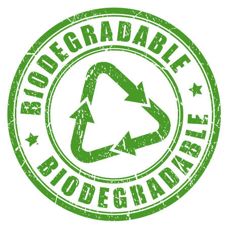 Biodegradable green rubber stamp