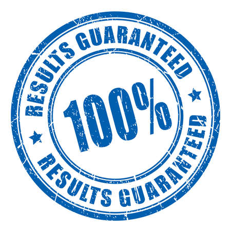 Results guaranteed vector stamp