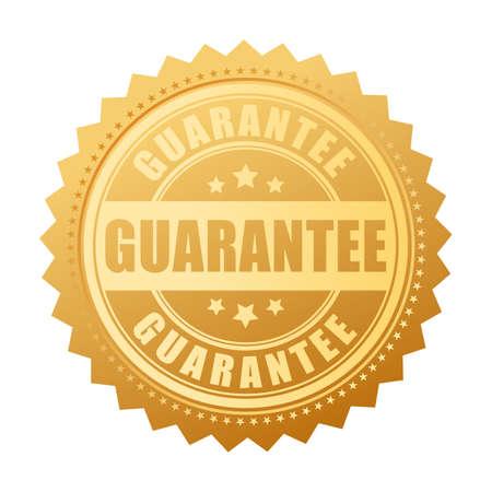ゴールド保証ベクトル シール  イラスト・ベクター素材