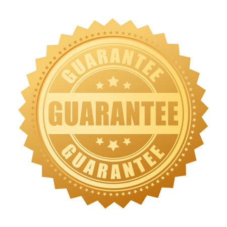 Gold guarantee vector seal Illustration