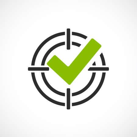 Objetivo alcanzado icono de vector