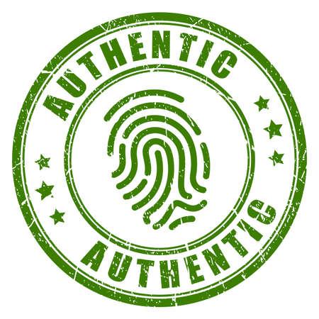 Authentic fingerprint vector stamp Illustration