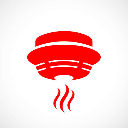 Red fire detector icon
