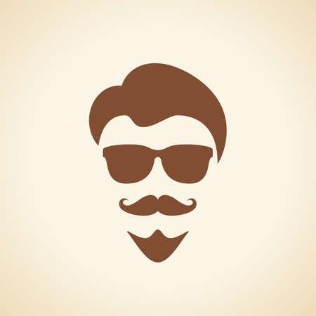 Cool man face illustration Illustration