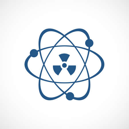 Atomic power vector icon Illustration