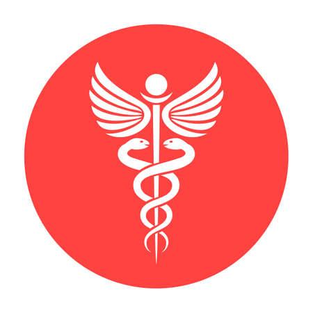 Red round medicine vector symbol