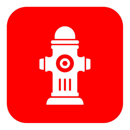 Red hydrant vector sign Illustration
