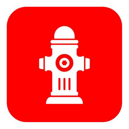 Rood hydrant vectorteken
