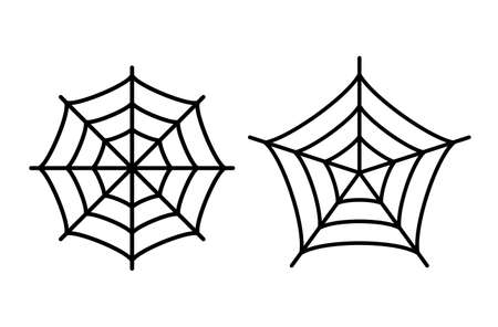 Spider web icon set