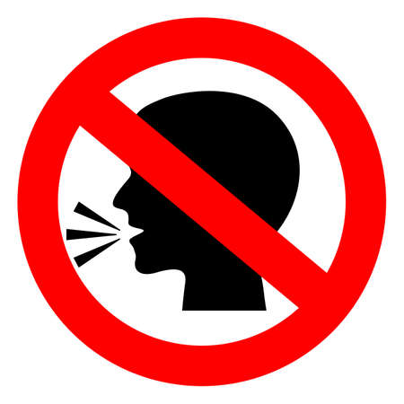 Stop talking vector sign Stock Illustratie