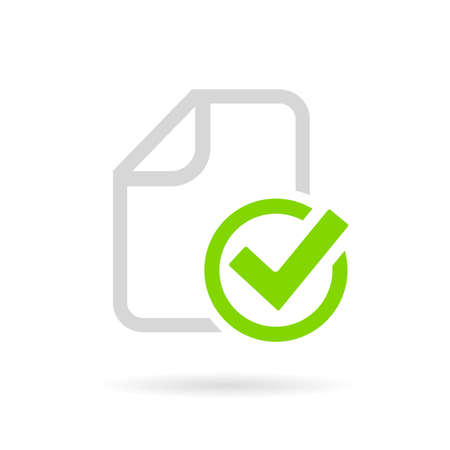 Paperwork completed vector pictogram
