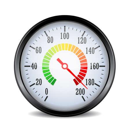 Speed metering dial plate vector illustration