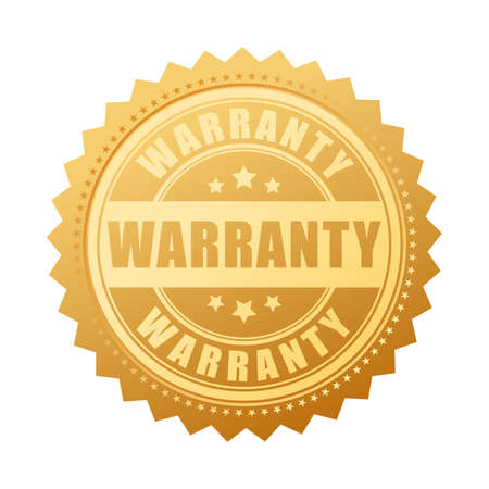 Garniture de garantie vector or Banque d'images - 90026138