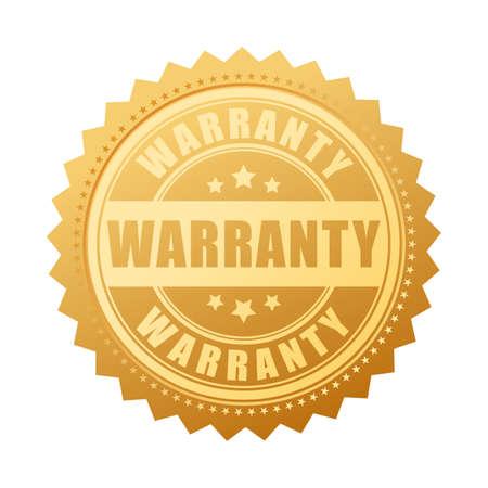 warranty: Warranty gold vector seal