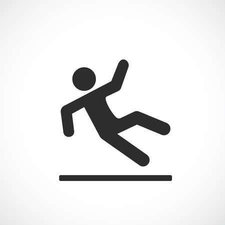 Falling man vector pictogram