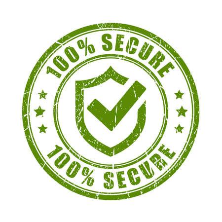 Zielony bezpieczny stempel
