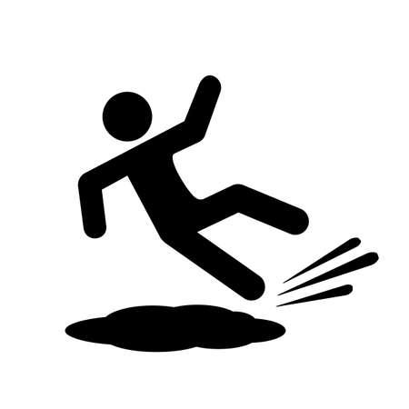 Icono de vector de piso resbaladizo Ilustración de vector