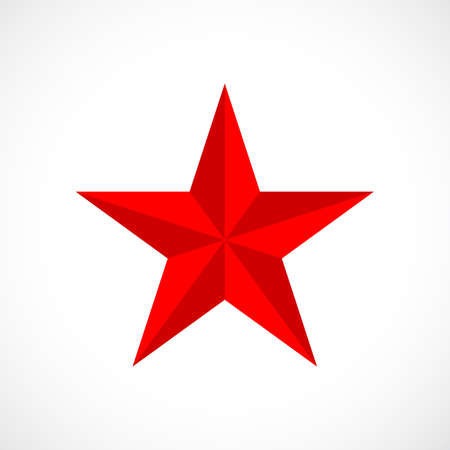 Red vector star Stock Vector - 90793167