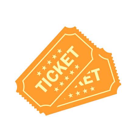 Gold raffle vector ticket illustration
