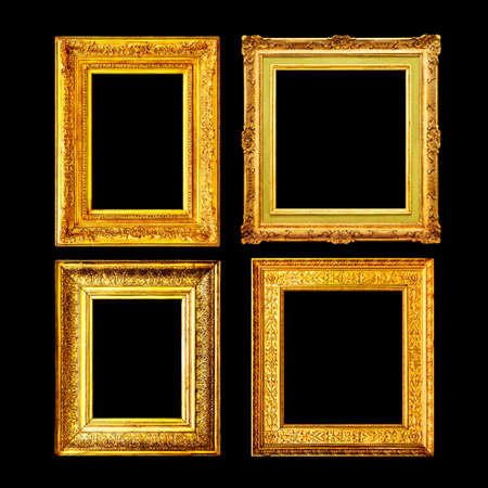 Baroque style ancient gold frame set