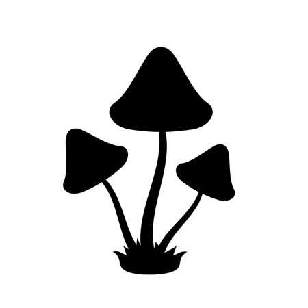 Toadstool mushrooms icon on white background, vector illustration.
