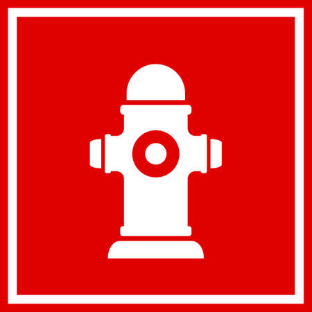 Fireplug, vector, cuadrado, señal
